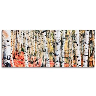 Metal Art Studio 'Aspen Grove' Traditional Metal Wall Art Print