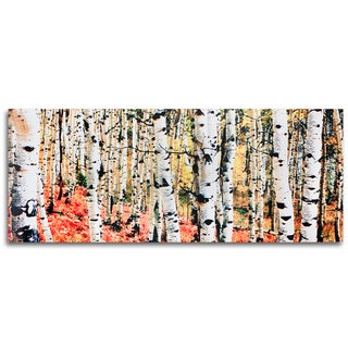 Metal Art Studio 'Aspen Grove' Traditional Metal Wall Art Print (As Is Item)