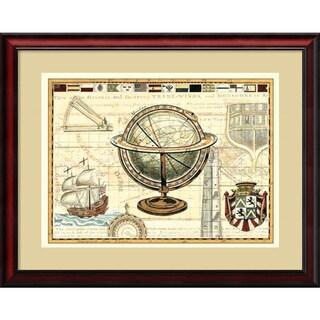 Framed Art Print 'Nautical Map II' by Deborah Bookman 31 x 26-inch