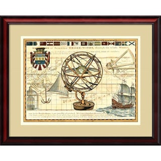 Framed Art Print 'Nautical Map I' by Deborah Bookman 31 x 26-inch