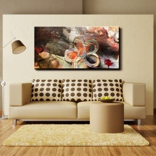 Ready2HangArt 'Painted Petals XV' Canvas Wall Art