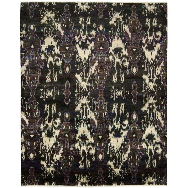 Nourison Sari Silk Black/ Multicolor Rug (9'9 x 13'9)