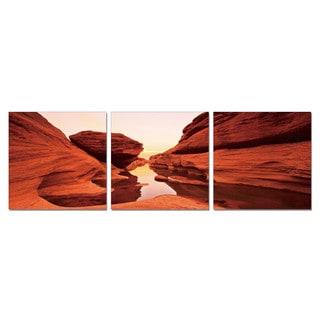 Porthos Home PL Home 'Mysterious Canyon' 3-piece Split-canvas Print