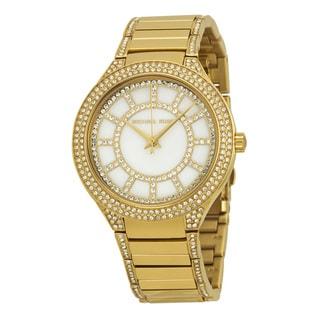 Michael Kors Women's MK3312 Kerry Yellow Goldtone Crystal Watch - Gold