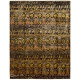 Nourison Sari Silk Southwestern Style Multicolor Rug (7'9 x 9'9)
