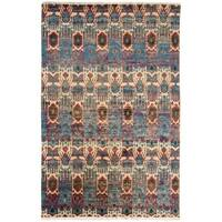 Nourison Traditional Sari Silk Multicolor Rug - 7'9 x 9'9