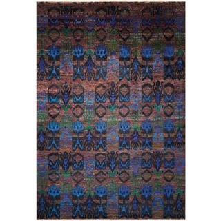 Nourison Sari Silk Jewel-tone Multicolor Rug (8'6 x 11'6)