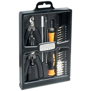 SYBA Multimedia 32 Piece Hobby Tool Kit Housed in a Black Slim Handso