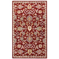 Hand Tufted Salvador Red Wool Rug (5'x8') - 5' x 8'