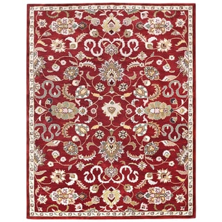 Hand Tufted Salvador Red Wool Rug (8'x11') - 8' x 11'