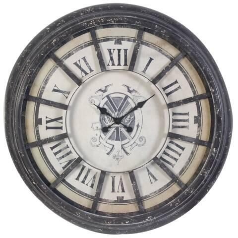 A & B Home 'Harrison' Roman Numeral 36.5-inch Wall Clock