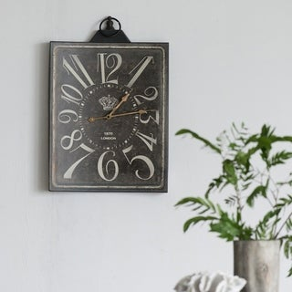 Carbon Loft Ekkaia Rustic Metal Wall Clock
