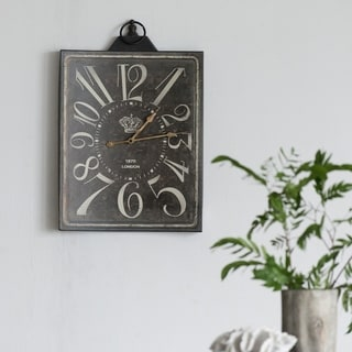 A and B Home 'London' Rustic Metal Wall Clock