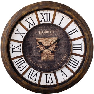 A and B Home Corinthian Capital Wall Clock