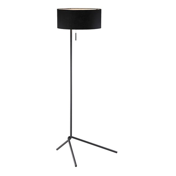 shop twixt slender black drum shade 1 light floor lamp free
