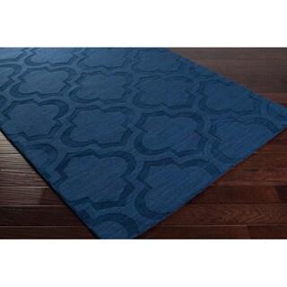 Hand-Woven Ali Tone-on-Tone Moroccan Trellis Wool Rug (10' x 14')