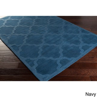 Hand-Woven Amy Tone-on-Tone Lattice Wool Rug (10' x 14')