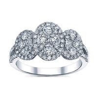 18k White Gold 1 1/3ct TDW Oval Diamond Ring