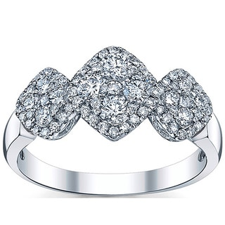 18k White Gold 7/8ct TDW Round Diamond Engagement Ring