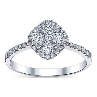18k White Gold 3/4ct TDW Diamond Engagement Ring
