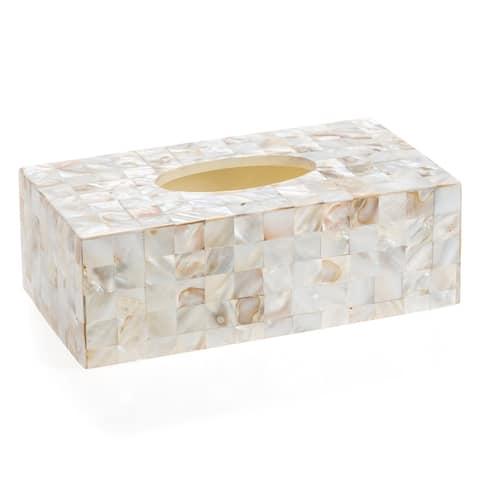 Milano Rectangle Tissue Box - Seashell