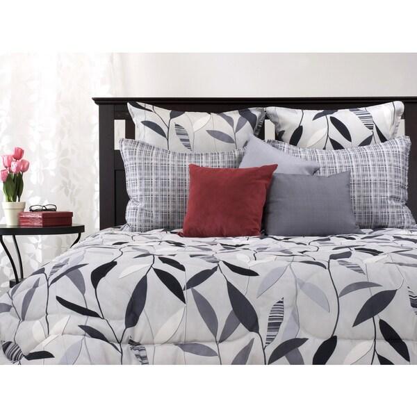 Platinum Leaf 3-Piece Comforter Set