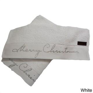 Enchante Christmas Turkish Cotton 2-piece Towel Set
