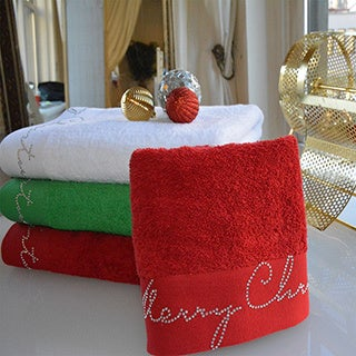 Enchante Christmas Turkish Cotton 2-piece Towel Set (2 options available)