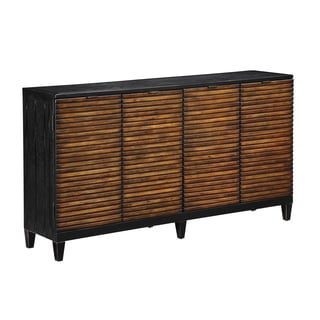 Christopher Knight Home Pecan and Black 4-door Credenza