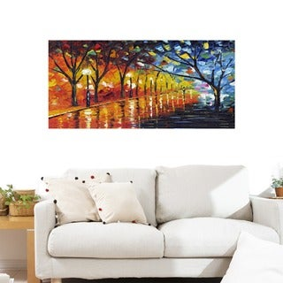 Shop Stroll Through Beauty Gallery Wrapped Canvas Art