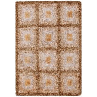 Handmade Elegant Checkered Shag Rug (6' x 8')
