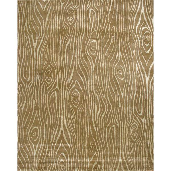 Hand-tufted Zebra Design Green Wool Rug (8' x 10')