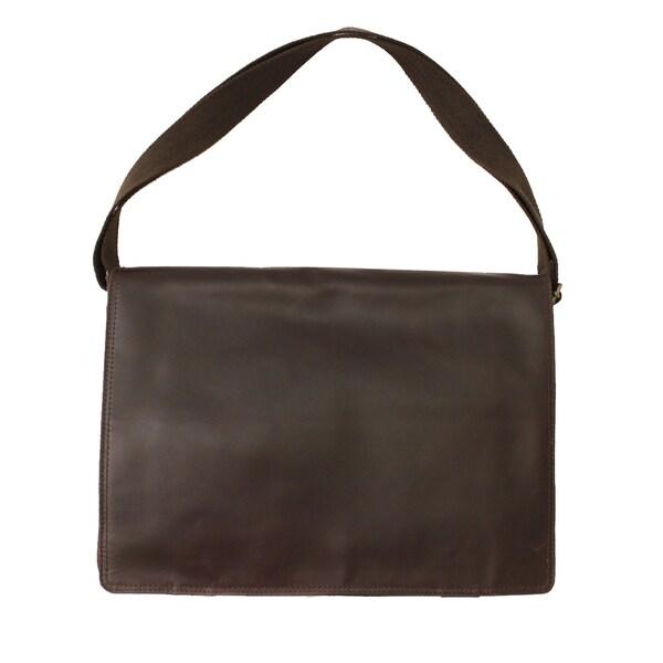 6af6f63189 Shop New Yorker Full Grain Cowhide Leather Messenger Bag - Free ...