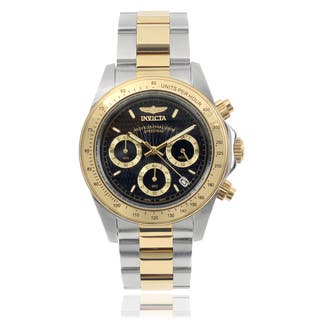Invicta Men's 7028 Signature 'Speedway' Stainless Steel Two-Tone Link Watch|https://ak1.ostkcdn.com/images/products/9623277/P16809339.jpg?impolicy=medium