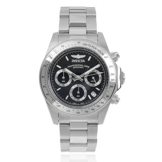 Invicta Men's 7026 Signature 'Speedway' Stainless Steel Unidirectional Tachymeter Link Watch