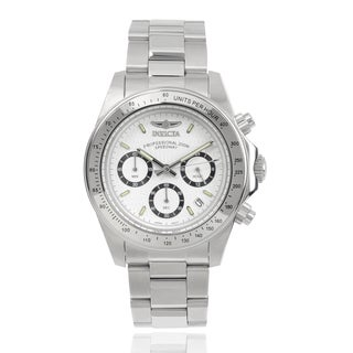 Invicta Men's 7025 Signature 'Speedway' Stainless Steel Link Watch
