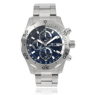 Invicta Men's 17748 'Specialty' Stainless Steel Blue Dial Link Watch