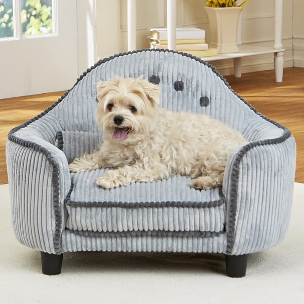 Tremendous Enchanted Home Pet Lucas Corduroy Headboard Pet Sofa Bed Gmtry Best Dining Table And Chair Ideas Images Gmtryco