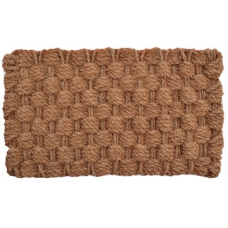 Shop Rope Coir Braided Door Mat 30 X 18 Free Shipping