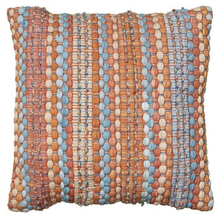 LNR Home Contemporary 18-inch Rust Square Decorative Throw Pillow