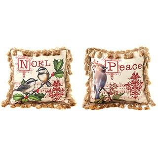 Bird Notes Peace Decorative Throw Pillow