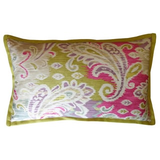 Passion Green/ Pink Long Decorative Pillow