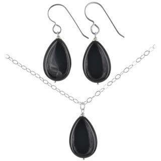 Ashanti Sterling Silver Black Onyx Gemstone Handmade Earrings and Necklace Set (Sri Lanka)|https://ak1.ostkcdn.com/images/products/9623491/P16809946.jpg?impolicy=medium
