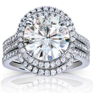 Annello by Kobelli 14k White Gold Round-cut Moissanite (HI) and 5/8ct TDW Diamond 3-piece Bridal Rings Set https://ak1.ostkcdn.com/images/products/9623545/P16809991.jpg?impolicy=medium