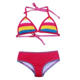 Azul Swimwear Girl's PinkHippie Hippie Shake Triangle Bikini