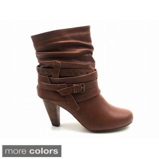 Women's dress boots mid heel