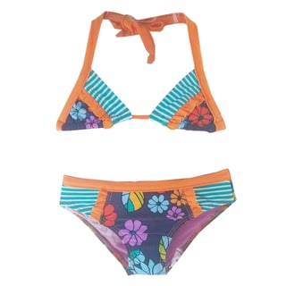 Azul Swimwear Girls' Purple Paradise Bikini