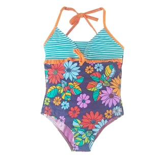 Azul Swimwear Girls' Purple Paradise One Piece