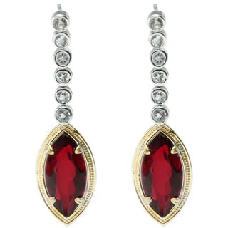 Michael Valitutti Red Quartz Earrings with White Topaz