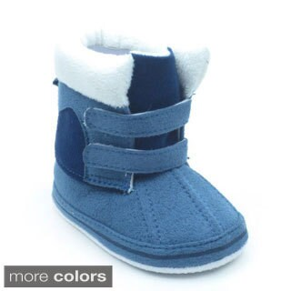 Blue Infant 'P-Boomer' Fleece-lined Booties